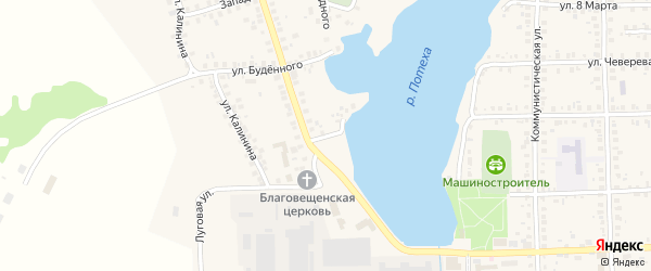 Островная улица на карте Благовещенска с номерами домов