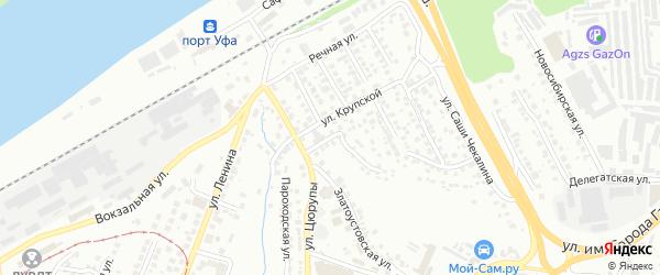Большевистский переулок на карте Уфы с номерами домов
