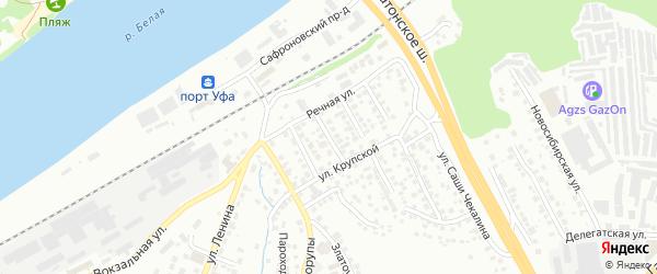 Белебеевская улица на карте Уфы с номерами домов