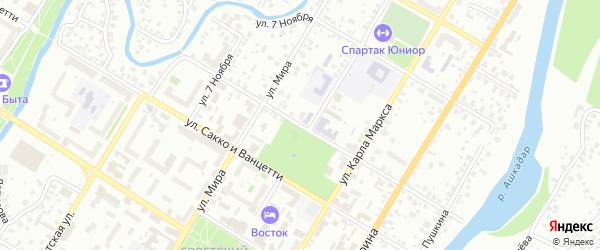 Садовая улица на карте Стерлитамака с номерами домов
