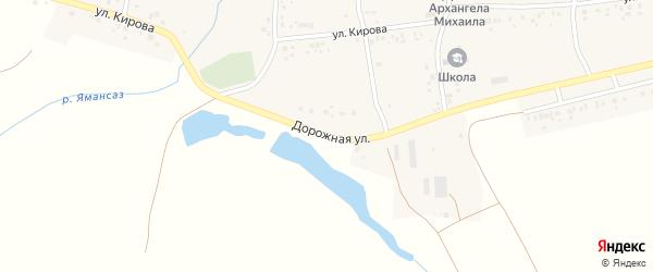 Дорожная улица на карте села Ишпарсово с номерами домов