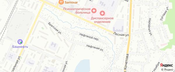 Нефтяной переулок на карте Стерлитамака с номерами домов