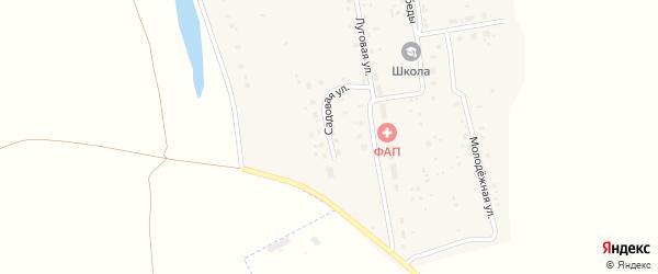 Садовая улица на карте села Тугая с номерами домов