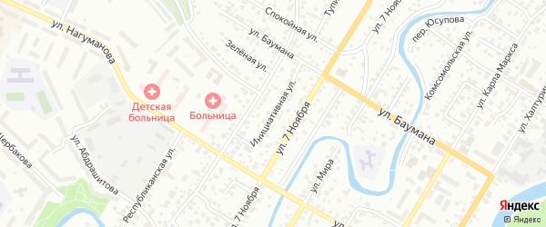 Инициативная улица на карте Стерлитамака с номерами домов