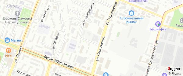 Вязовая улица на карте Уфы с номерами домов