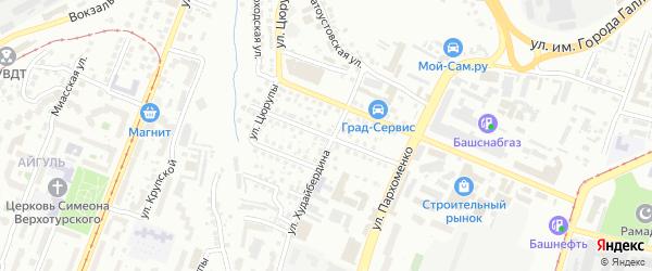 Пролетарская улица на карте Уфы с номерами домов
