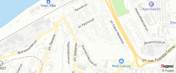 Улица Сибирякова на карте Уфы с номерами домов