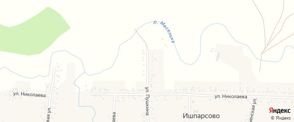 Улица Пушкина на карте села Ишпарсово с номерами домов