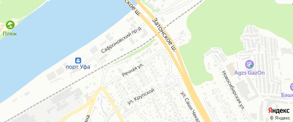 Речная улица на карте Уфы с номерами домов