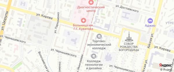 Улица Мингажева на карте Уфы с номерами домов