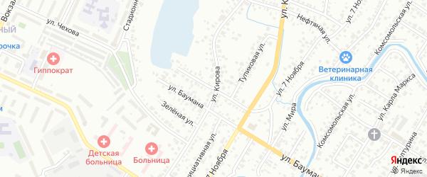 Спокойная улица на карте Стерлитамака с номерами домов