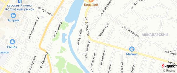 Улица Горького на карте Стерлитамака с номерами домов