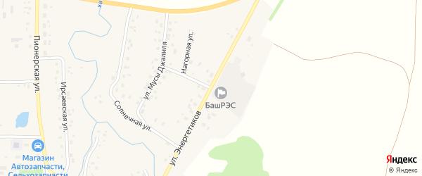 Улица Энергетиков на карте села Мишкино с номерами домов