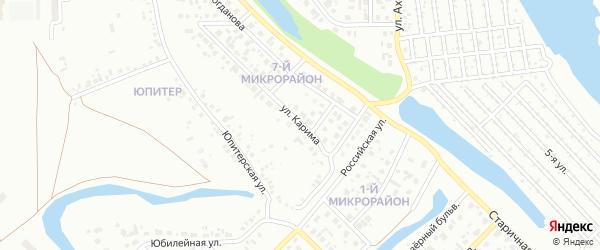 Улица Карима на карте Салавата с номерами домов