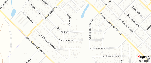 Луговая улица на карте Салавата с номерами домов