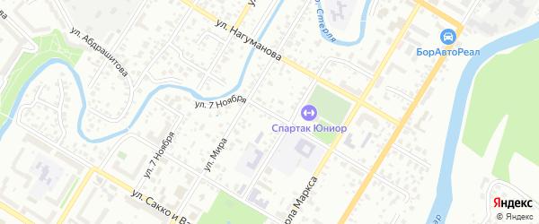 Улица Коммунаров на карте Стерлитамака с номерами домов