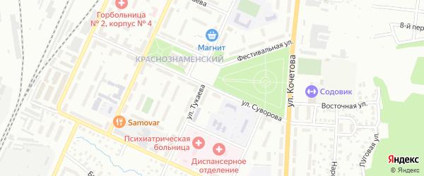 Улица Суворова на карте Стерлитамака с номерами домов