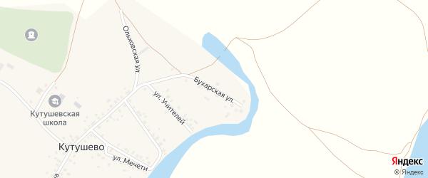 Бухарская улица на карте деревни Кутушево с номерами домов