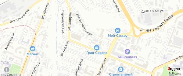 Улица Собинова на карте Уфы с номерами домов