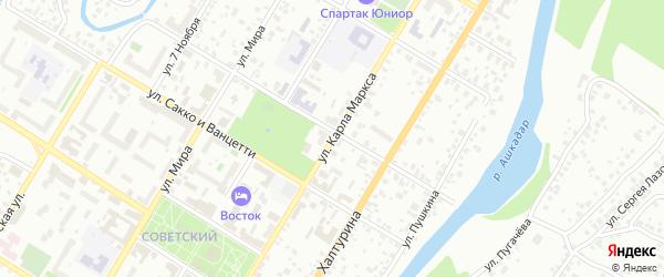 Улица Карла Маркса на карте Стерлитамака с номерами домов