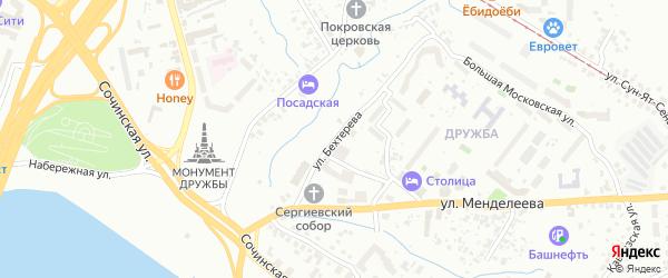 Улица Бехтерева на карте Уфы с номерами домов