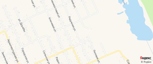 Радужная улица на карте Агидели с номерами домов