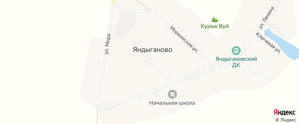 Красноармейская улица на карте деревни Яндыганово с номерами домов