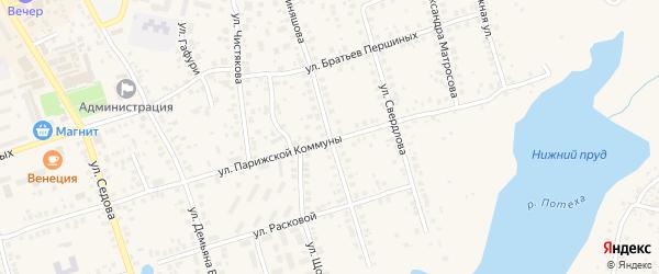 Улица Киняшова на карте Благовещенска с номерами домов
