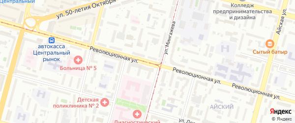 Революционная улица на карте Уфы с номерами домов