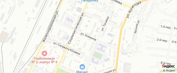 Улица Химиков на карте Стерлитамака с номерами домов