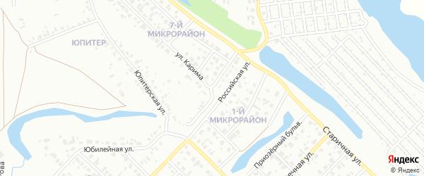 Хрустальная улица на карте Салавата с номерами домов