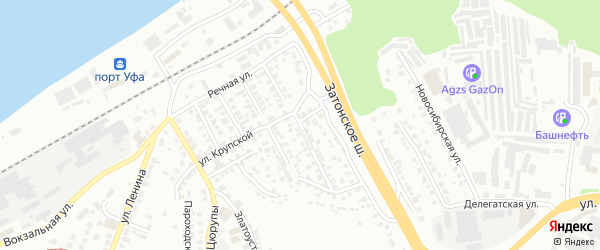 Бирская улица на карте Уфы с номерами домов