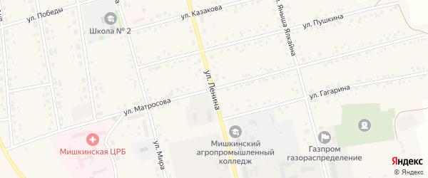 Улица Матросова на карте села Мишкино с номерами домов