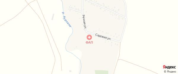 Речная улица на карте деревни Новоитикеево с номерами домов