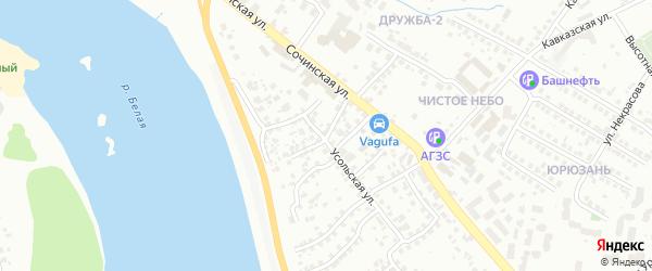 Аргаяшская улица на карте Уфы с номерами домов