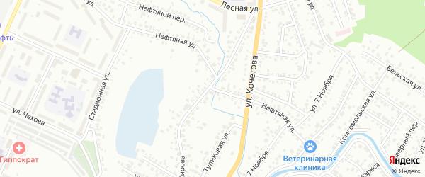 Нефтяная улица на карте Стерлитамака с номерами домов