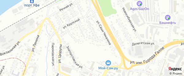 Бирский переулок на карте Уфы с номерами домов