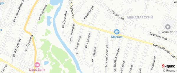 Улица Правды на карте Стерлитамака с номерами домов