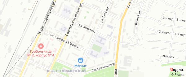 Улица Тукаева на карте Стерлитамака с номерами домов