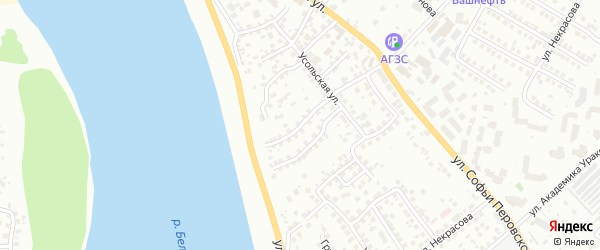 Катайская улица на карте Уфы с номерами домов