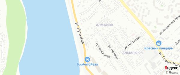 Павловская улица на карте Уфы с номерами домов