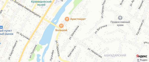 Улица Шепелюка на карте Стерлитамака с номерами домов