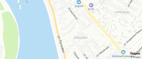 Ашхабадская улица на карте Уфы с номерами домов