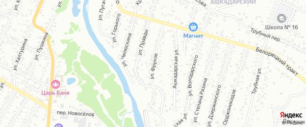 Улица Фрунзе на карте Стерлитамака с номерами домов