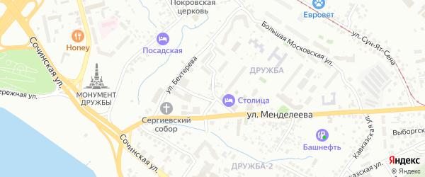 Коллективная улица на карте Уфы с номерами домов