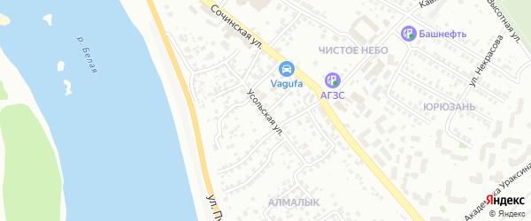 Усольская улица на карте Уфы с номерами домов