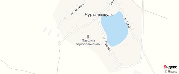 Центральная улица на карте деревни Чуртанлыкуля с номерами домов