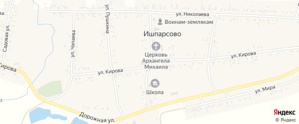 Школьная улица на карте села Ишпарсово с номерами домов