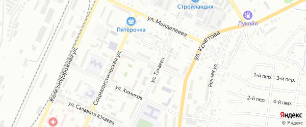Улица Цементников на карте Стерлитамака с номерами домов
