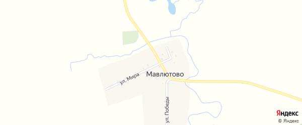 Улица Победы на карте деревни Мавлютово с номерами домов
